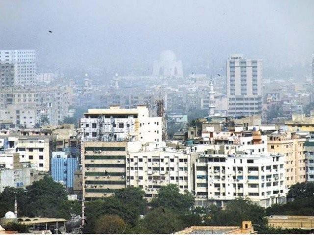an aerial view of karachi photo file