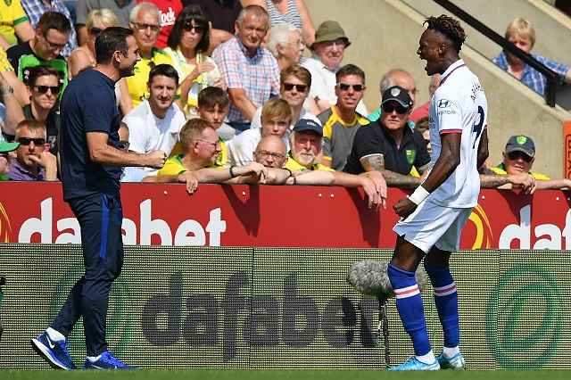 abraham double fires chelsea to first win of frank s era