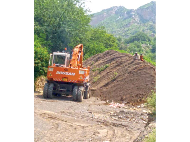 repairs start on breach in khanpur water channel