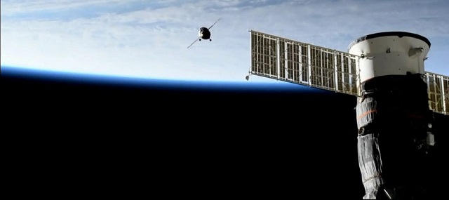 spacecraft carrying russian humanoid robot docks at iss nasa