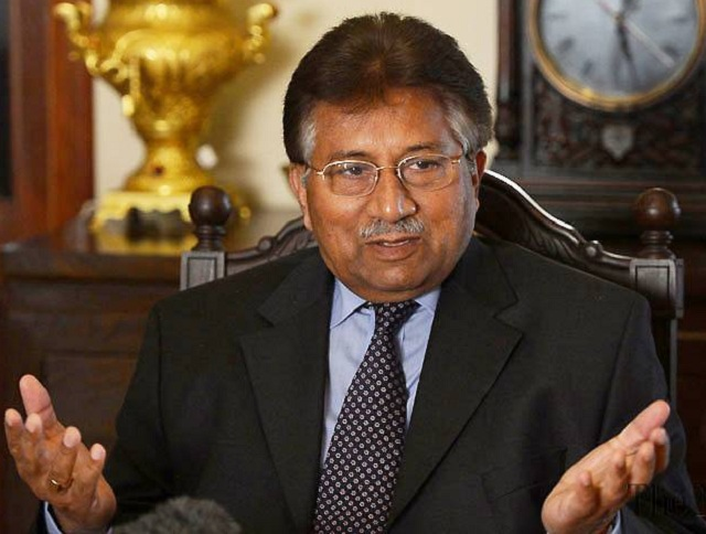 musharraf is also declared absconder in the high treason case and the murder case of lal masjid cleric abdul rashid ghazi photo file