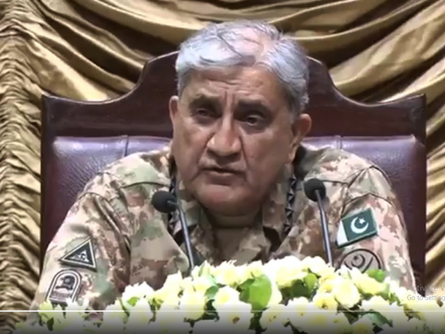 Army chief visits Gujranwala Corps HQ, says deteriorating situation in IOK is a threat to regional peace. SCREENGRAB