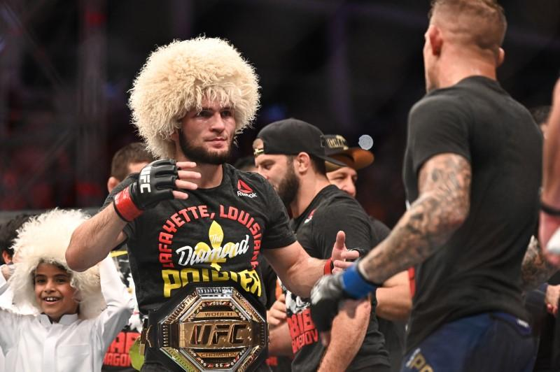 khabib makes poirier tap to unify ufc lightweight title