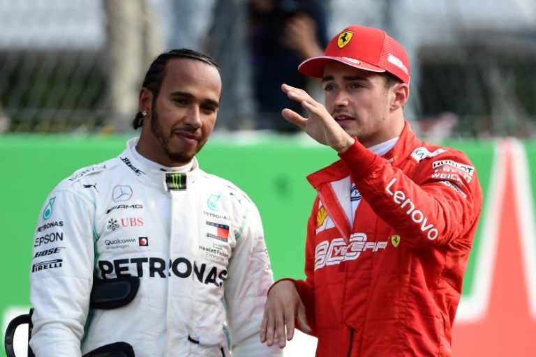 Formula One champion, who qualified second behind Ferrari's Charles Leclerc in his Mercedes, repeated his warning about the dangers of drivers slowing down in a bunch to find a tow. PHOTO: AFP