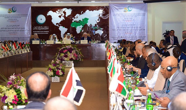 Foreign ministers and diplomats of the Organisation of Islamic Conference (OIC) attend a conference in Jeddah on Sunday, Sept. 15, 2019. PHOTO: OIC