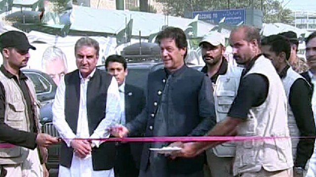 pm imran inaugurates torkham border crossing for round the clock operations