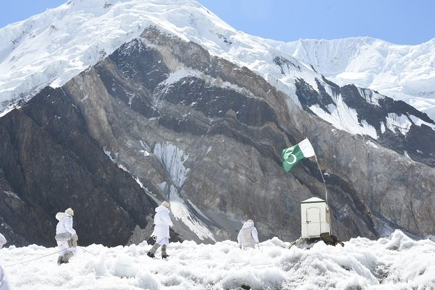 siachen pakistan  september 16 pakistani soldiers patrol where india and pakistan both claim the area and have thousands of soldiers stationed there in siachen pakistan on september 16 2019 at a height of up to 8 000 meters siachen is regarded as the world 039 s highest battlefield due to military conflict between india and pakistan which was started in 1984 military life in the region is viewed by anadolu agency for the first time in international media photo anadolu agency