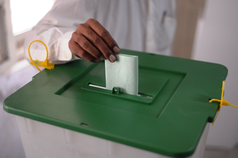 The commission had directed re-polling in 29 polling stations of the NA-259 and appointed Regional Election Commissioner Sibi Imran Ahmed as the district returning officer, District Election Commissioner Sibi Nadeem Asghar Palal as the returning officer to supervise the process. (PHOTO: AFP/FILE)