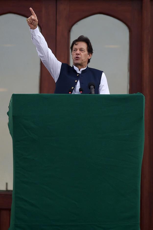 PM Imran Khan. PHOTO: AFP