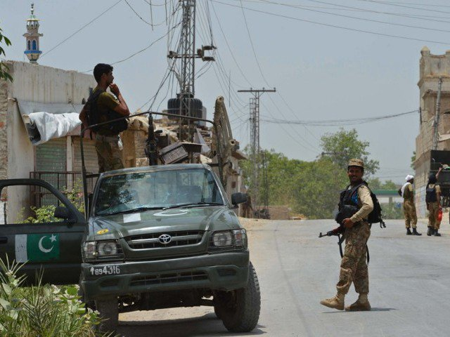 The security forces have started a search operation after cordoning off the area. PHOTO: FILE