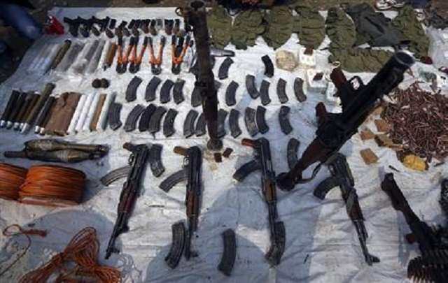 levies recovers huge cache of arms