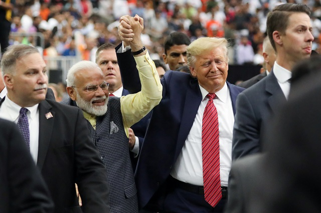 us president donald trump participates in the quot howdy modi quot event with india 039 s prime minister narendra modi in houston texas us photo reuters