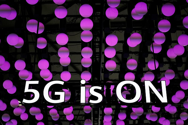 A 5G sign is pictured at Huawei's booth at the Mobile World Congress (MWC) in Shanghai, China, June 28, 2019.  PHOTO: REUTERS