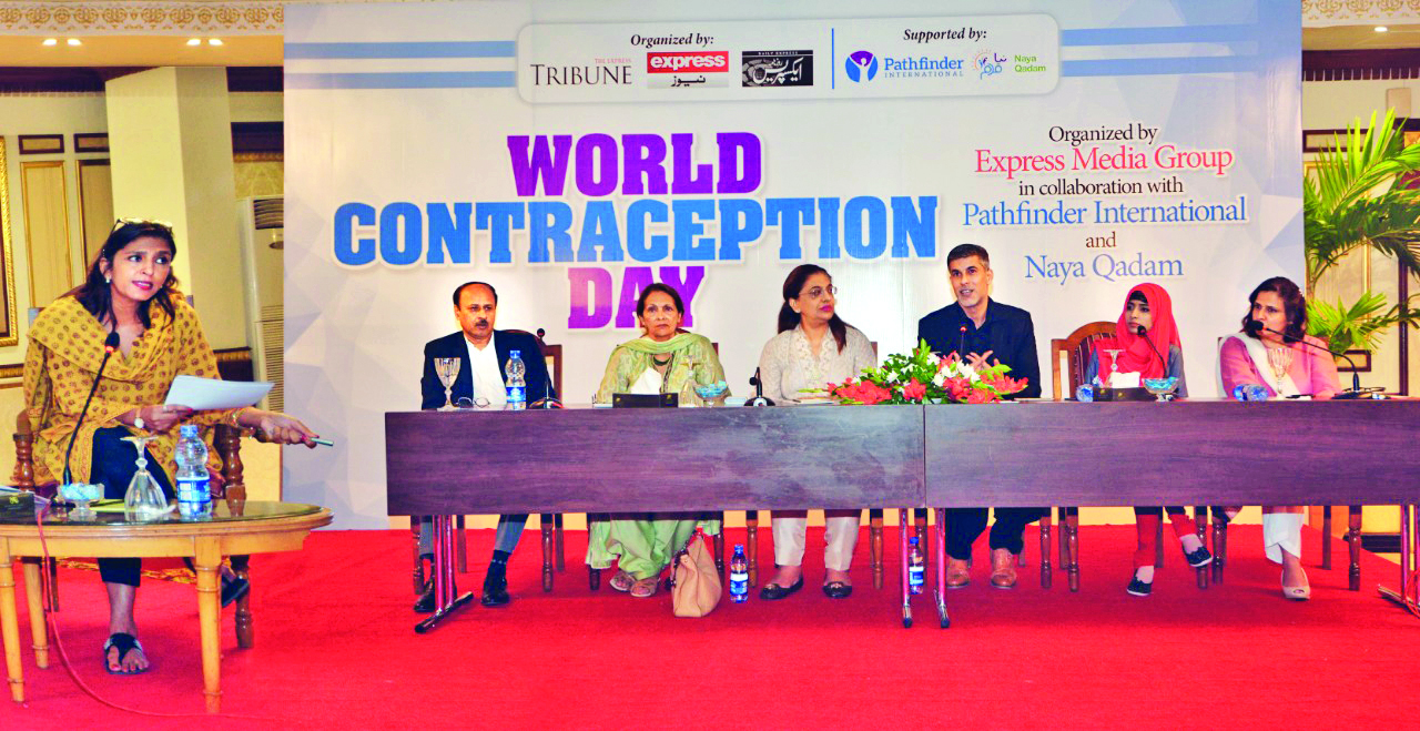 medical experts stressed the importance of using contraceptives for controlling rapid population growth during a panel discussion organised by the express media group on the occasion of world contraception day on wednesday photo express