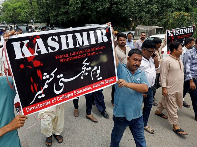 rallies taken out in balochistan in solidarity with kashmiris