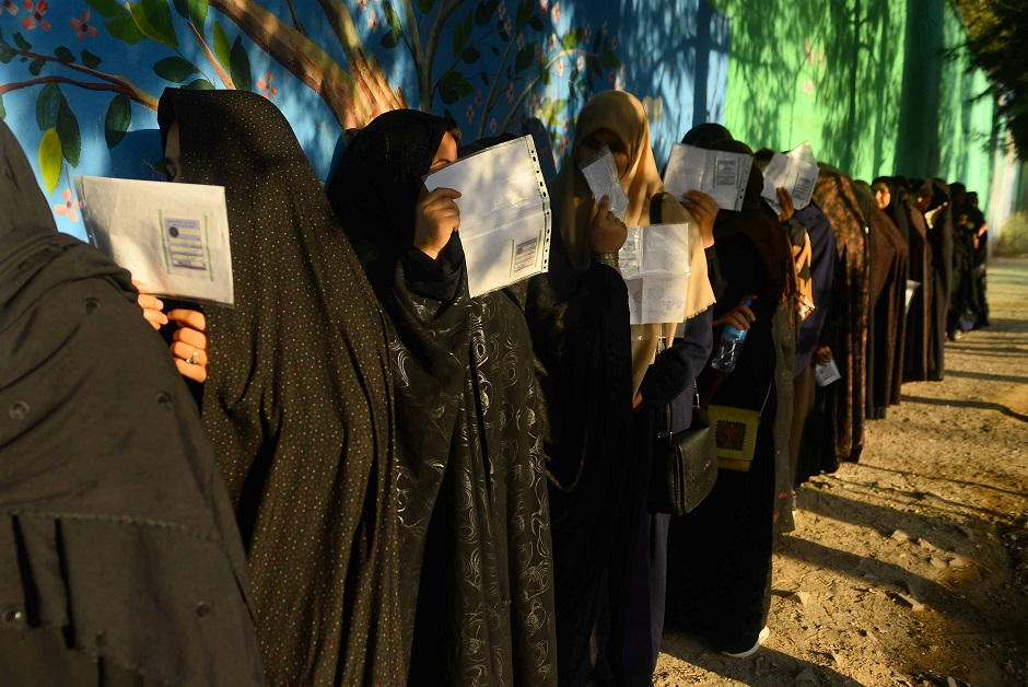 in pictures afghan presidential elections