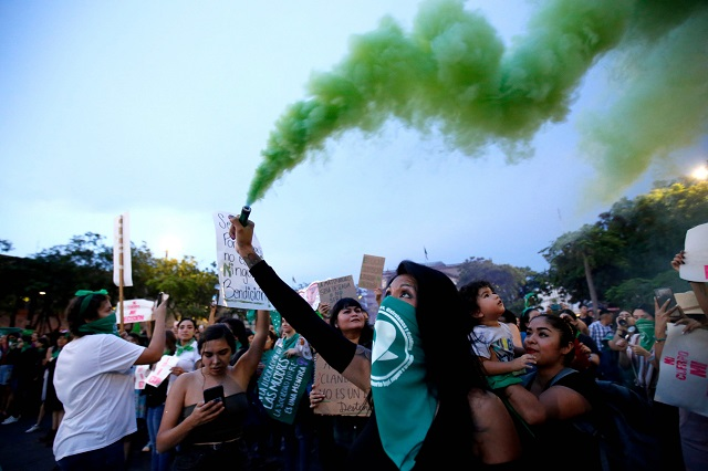 mexican activists take to streets demanding safe legal abortions