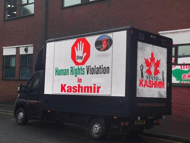 digital vans highlight plight of kashmiris in manchester