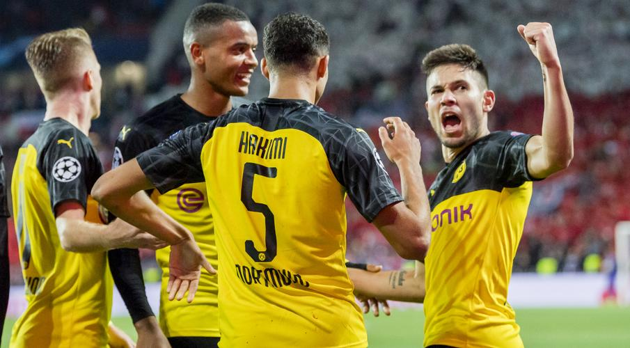 dangerous hakimi brace gives dortmund win at slavia prague