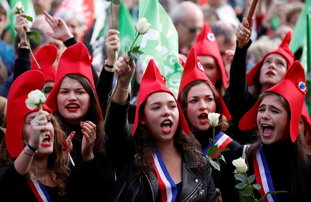 thousands protest french ivf law for single women lesbians