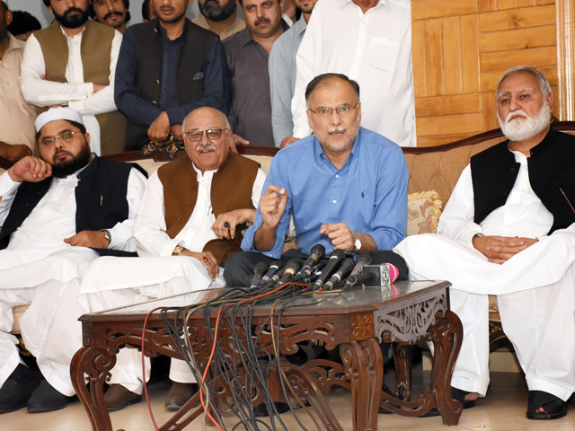Rahbar Committee members address a joint press conference in Islamabad. PHOTO: ONLINE