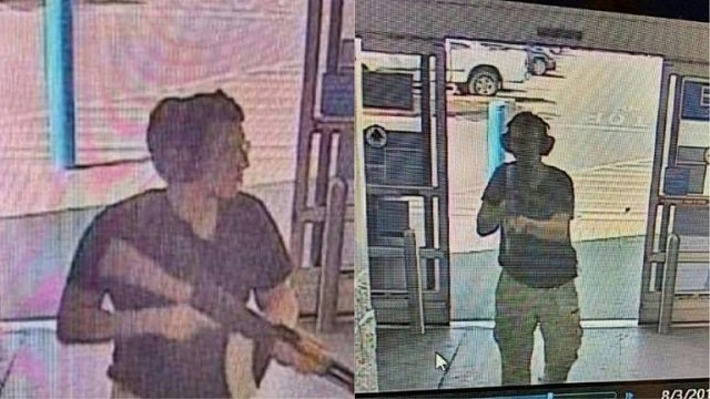 this photo shows the armed suspect entering the walmart store in el paso texas photo afp