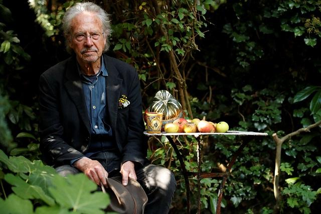 outrage over nobel prize for writer who denies muslim massacre