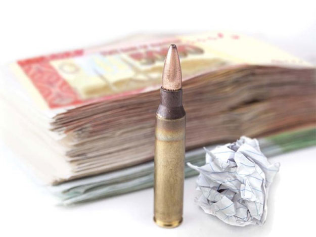 tax official receives bullet extortion chit in karachi