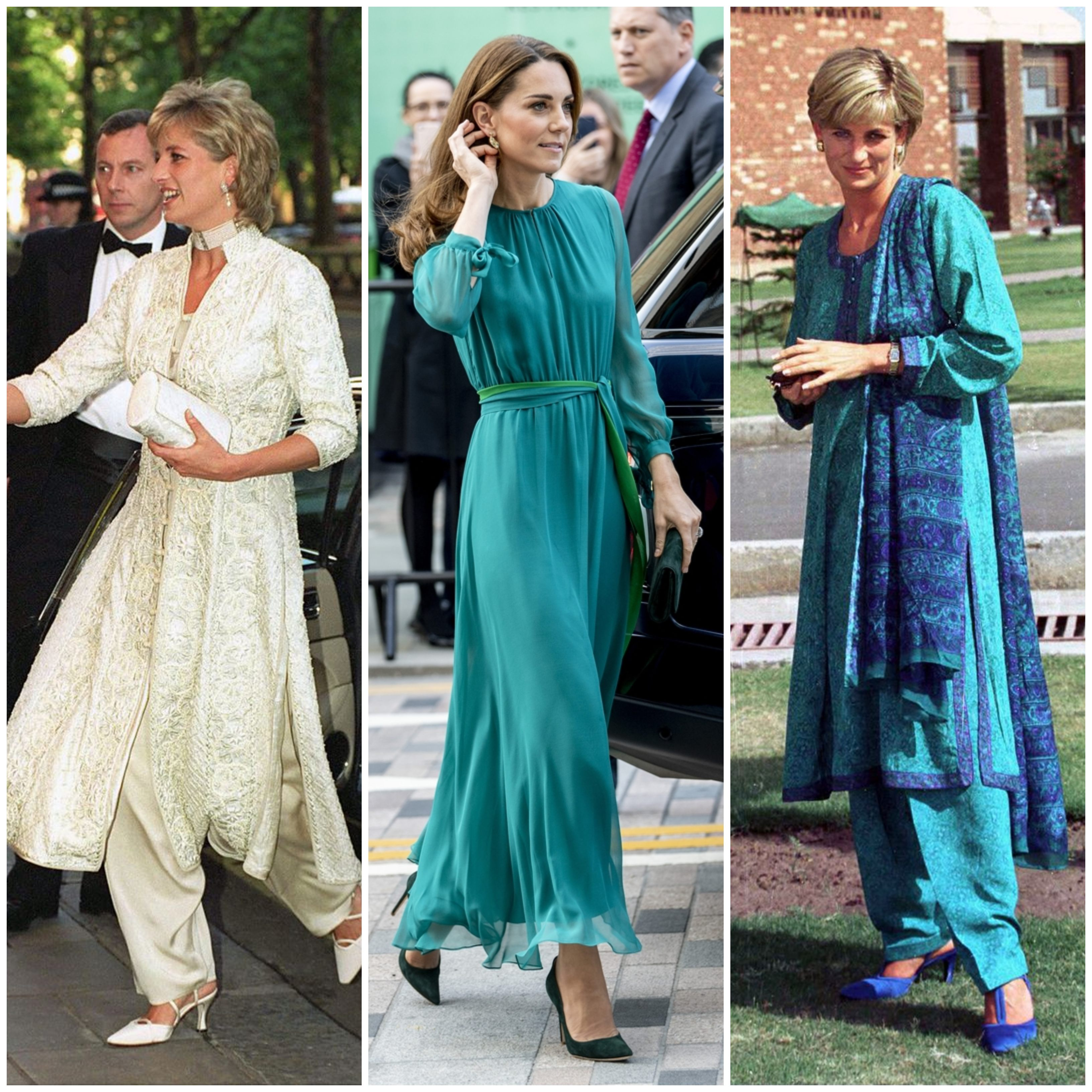 4 princess diana outfits kate middleton should take cue from for her pakistan trip