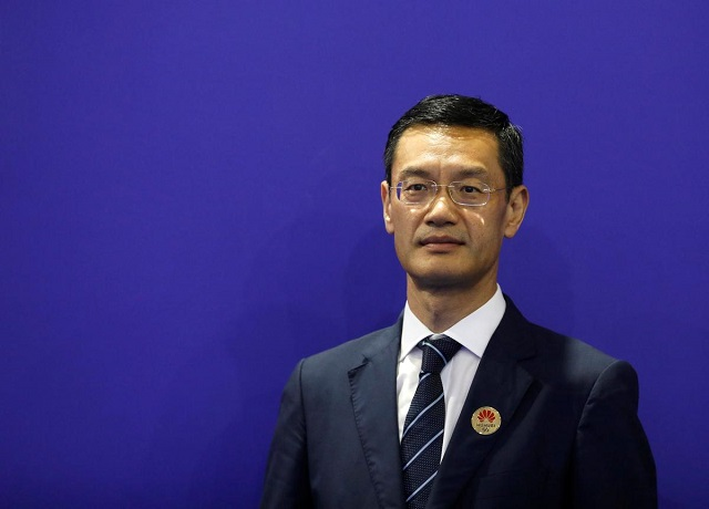 Huawei India CEO Jay Chen poses for a picture at the India Mobile Congress in New Delhi, India, October 14, 2019. PHOTO: REUTERS