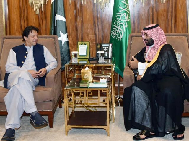 pm imran meets saudi crown prince mohammed bin salman in riyadh photo pid