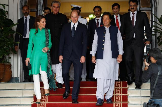 royal couple meets president alvi pm imran