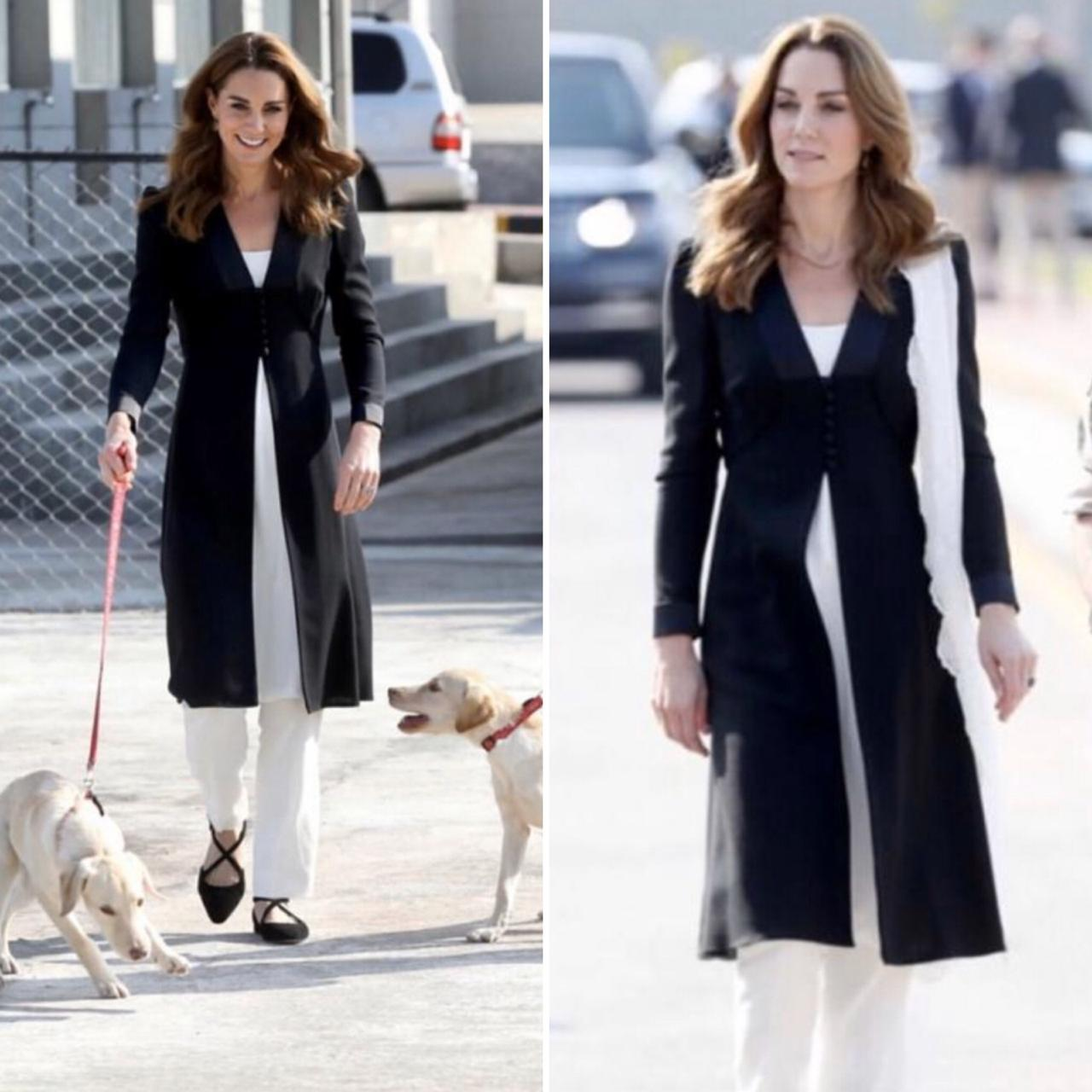 kate middleton cuts a stylish figure in monochrome