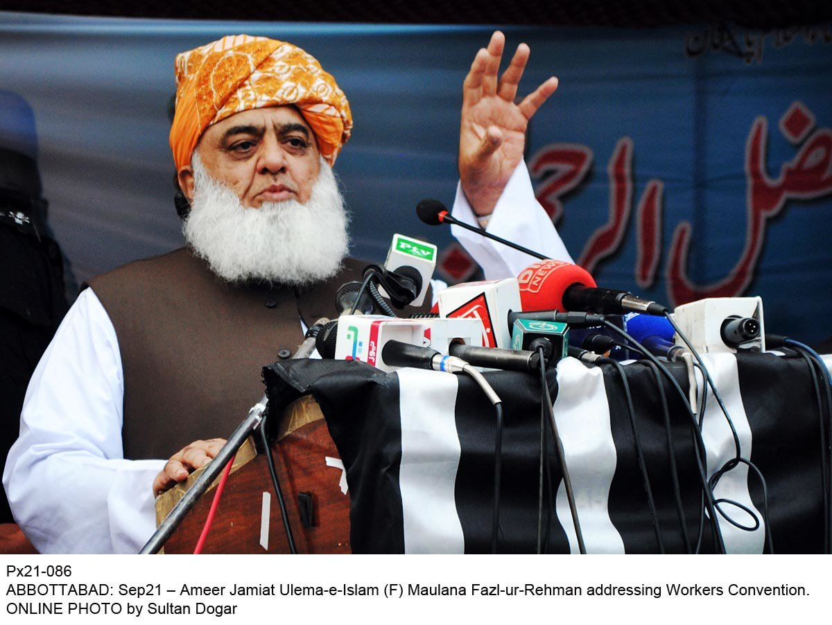 JUI-F chief Maulana Fazlur Rehman. PHOTO: ONLINE/FILE