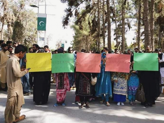 students protest against campus harassment photo express