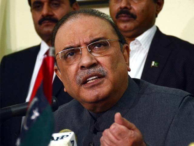 Asif Ali Zardari. PHOTO: FILE