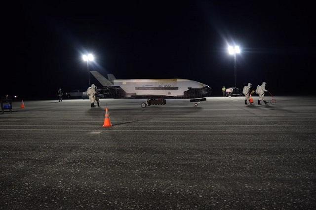secretive military spaceplane lands in florida after record long orbital flight