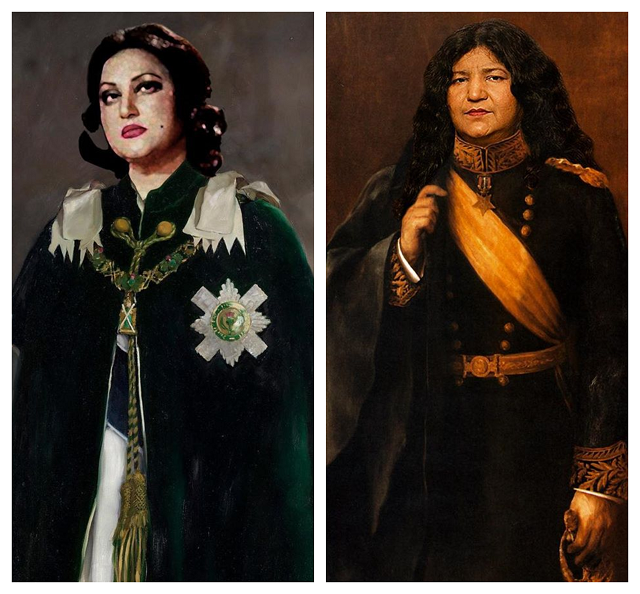 pakistani artist presents noor jehan abida and others in royal attire