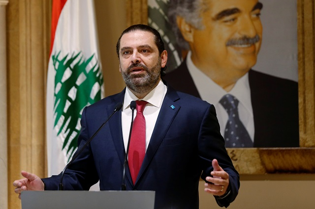 lebanon pm saad hariri resigns after two weeks of mass protests