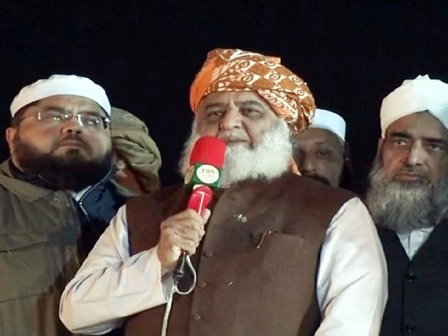 maulana fazlur rehman addresses azadi march sit in on november 11 screengrab