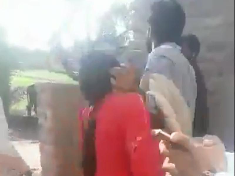 faisalabad landowner orders public beating of married woman screengrab twitter ghulamabbasshah