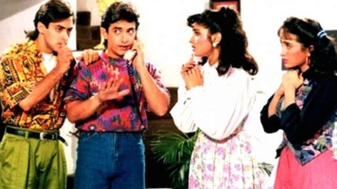 aamir salman or raveena karisma no one was friends on andaz apna apna sets