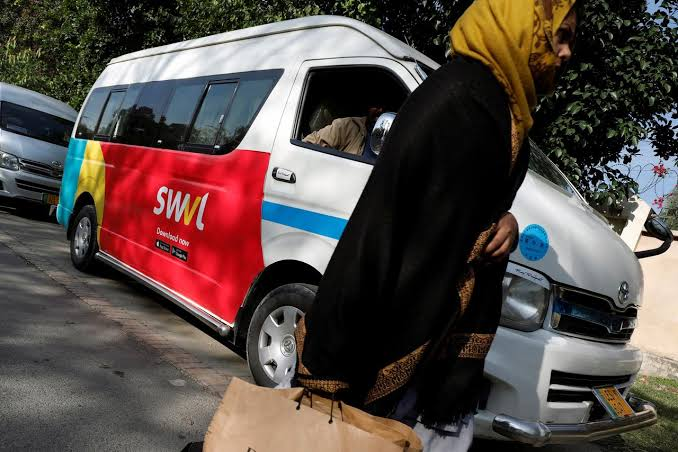 Operates buses along fixed routes, allows customers to book tickets by using app. PHOTO: REUTERS
