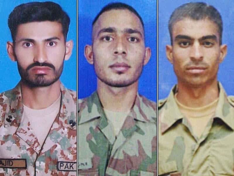 3 soldiers martyred in n waziristan ied blast ispr