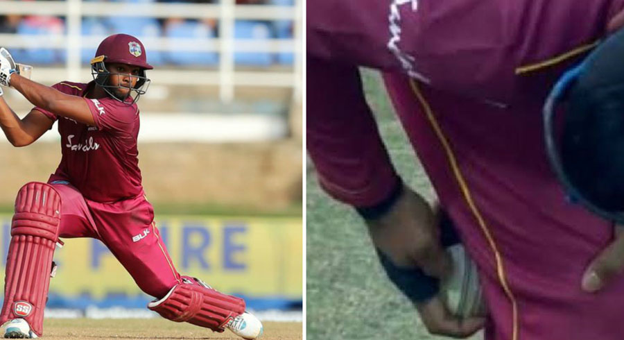 watch pooran commits ball tampering offence