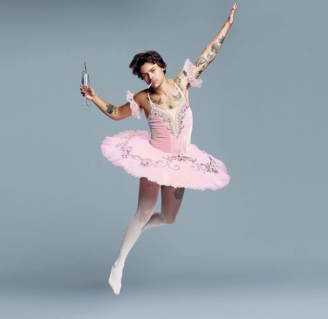 twitter can t get enough of harry styles in a ballerina outfit