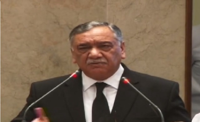 Chief Justice of Pakistan Justice Asif Saeed Khosa. PHOTO: SCREENGRAB