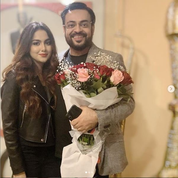 aamir liaquat posts heartfelt note for wife on first wedding anniversary