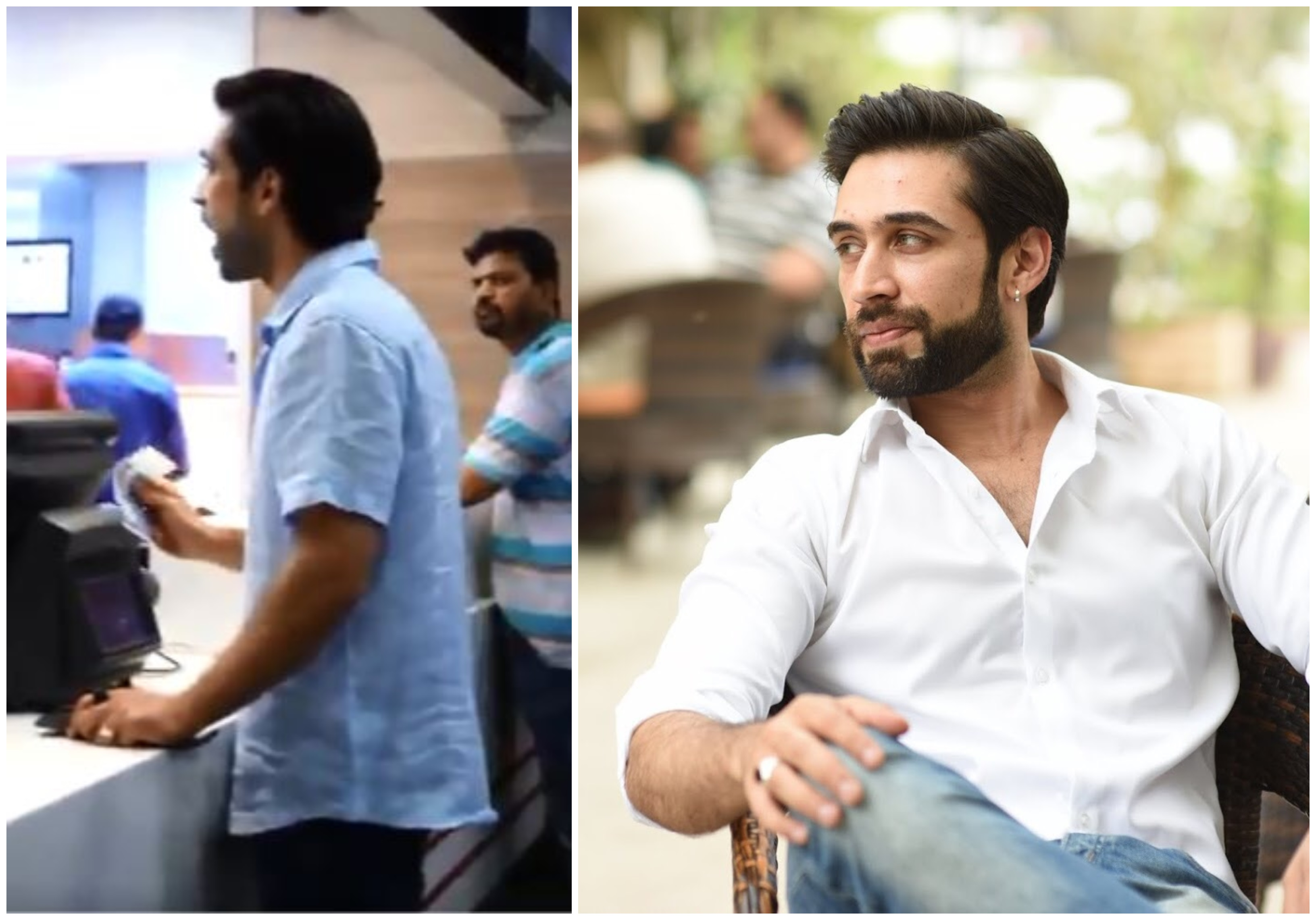 actor ali rehman khan lashes out at cashier in leaked video