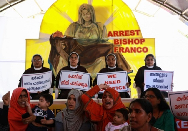 The bishop was arrested in October last year and granted bail. On Saturday, the court extended his bail until the next scheduled hearing on January 6. PHOTO: AFP
